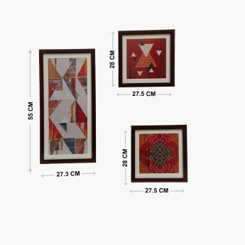 Plexiglas Printed Picture Frame-Set Of 3 Pcs