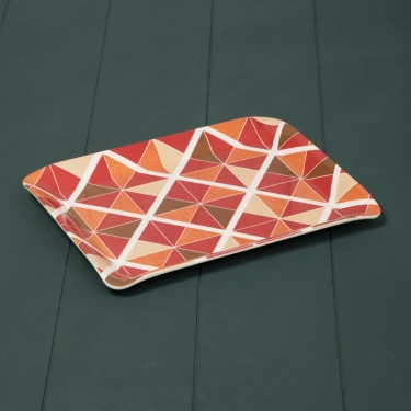 MEADOWS-MALVA-Bohemian Sunset Melamine Serving Tray