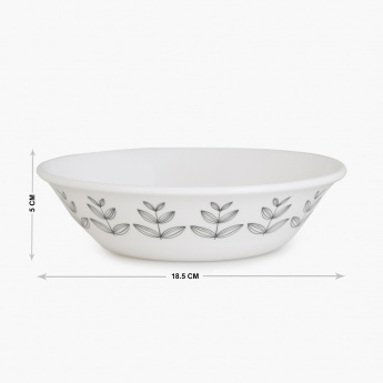 MEADOWS-NORDIC Printed Melamine Open Serving Bowl