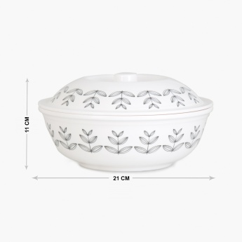 MEADOWS-NORDIC Printed Melamine Serving Bowl With Lid
