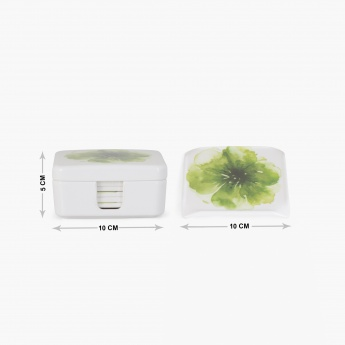 MEADOWS-TROPICAL JUNGLE Printed Melamine Coasters With Stand- 6+1