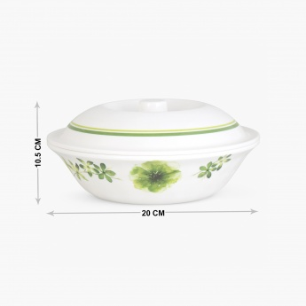 MEADOWS-TROPICAL JUNGLE Printed Melamine Serving Bowl With Lid