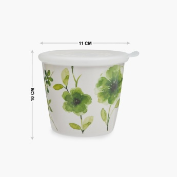MEADOWS Melamine Printed Canister With Lid