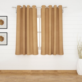 Marshmallow Solid Blackout Window Curtain-Set Of 2 Pcs.