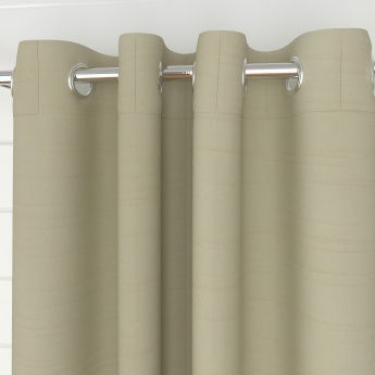 Marshmallow Solid Blackout Door Curtain-Set Of 2 Pcs.