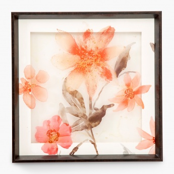 Artistry-Saskia Floral Print Mirror Glass Art Photo Frame
