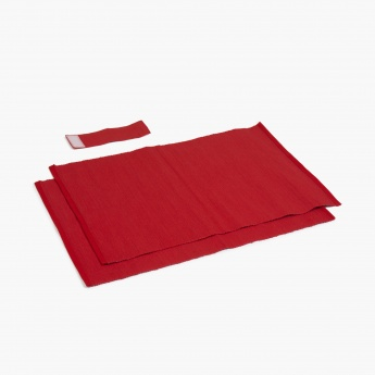 Kale Textured Cotton Ribbed Placemats- Set Of 2 Pcs.
