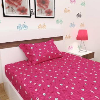 Faboulous Three Printed Single Bed Sheet-Set Of 2 Pcs.