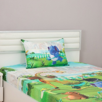 City Goes Wild Printed Single Bed Sheet-Set Of 2 Pcs.