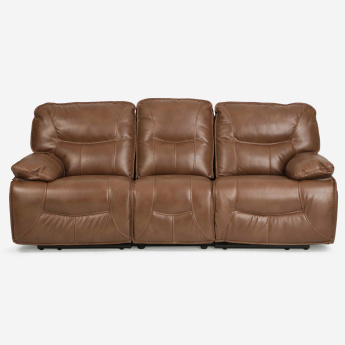 Alpha Solid Wood Recliner- 3 Seater