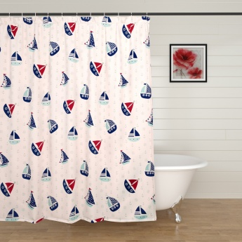 Adventures Of U-Tron Shower Curtain With 12 Hooks