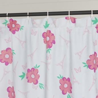 Fabulous 3 Shower Curtain With 12 Hooks