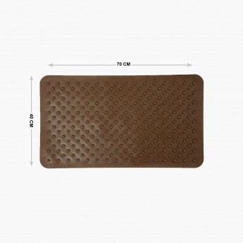 Hudson Devon Textured Rubber Anti-Slip Shower Mat
