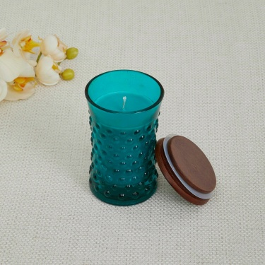 Redolence-Daisy Embossed Jar Candle- Amber