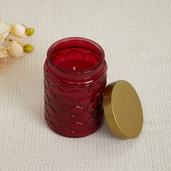 Redolence-Daisy Leaf Embossed Ombre Jar Candle- Lotus And Peony