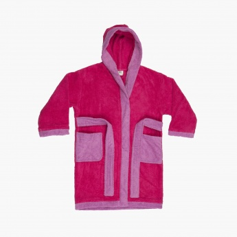 FABOULOUS 3 Solid Cotton Kids Hooded Bathrobe