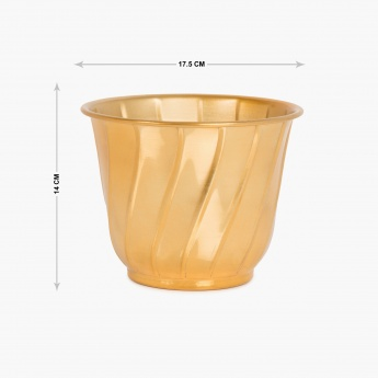 Cairo Met Textured Planter