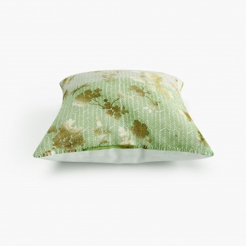 Mandarin Floral Cushion Covers- Set Of 2 Pcs.