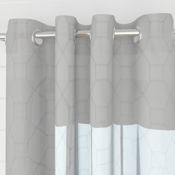 Griffin Octos Contemporary Semi Sheer Window Curtain-Set Of 2 Pcs.