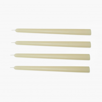Selena Glare Solid Taper Candles- Set Of 4 Pcs.