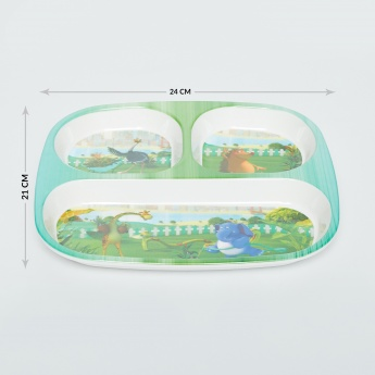 City Goes Wild Printed Melamine Partition Plate