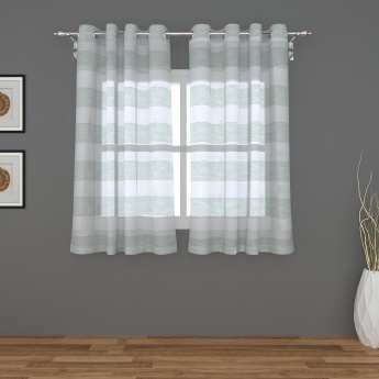 Seirra Lucent Stripes Window Curtain-Set Of 2 Pcs.