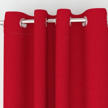 Seirra Solid Textured Semi-Blackout Door Curtains - 2 Pcs.