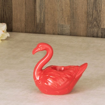 Splendid Textured Abstract Bird Figure Tealight Holder