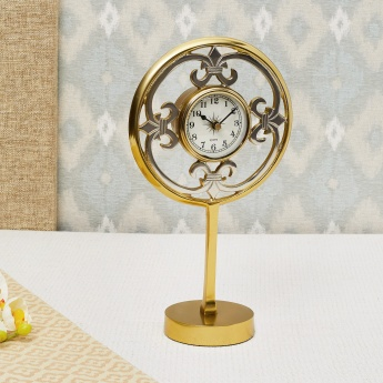 Casablanca Metal Table Clock