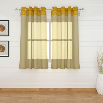 Colour Connect Contemporary Semi Sheer Window Curtain-Set Of 2 Pcs.