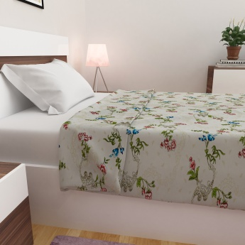 Edwardian Floral Printed Single Bed Dohar