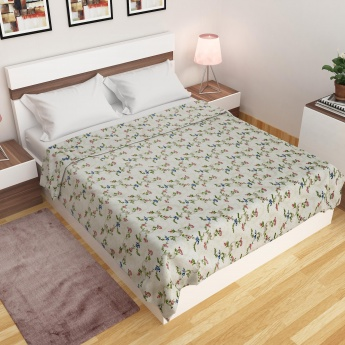 Edwardian Floral Printed Double Bed Dohar