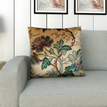 Edwardian Delight Floral Print Filled Cushion