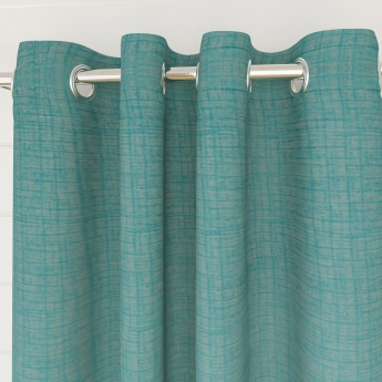 Edwardian Solid Semi-Blackout Window Curtain-Set Of 2 Pcs.