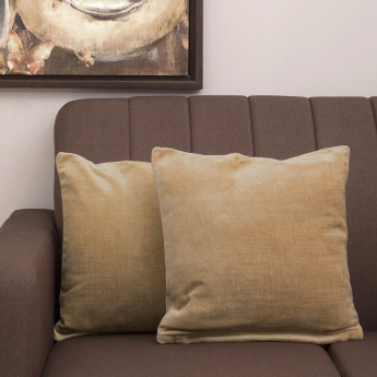 Ebony Chenille Solid Filled Cushion