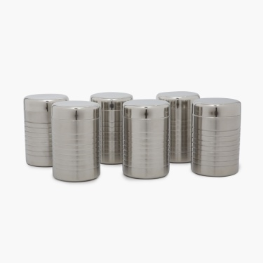 Barbados Stainless Steel Canisters ? 6Pcs.