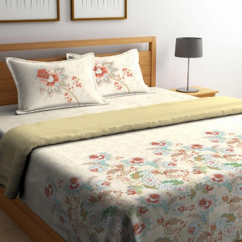 PORTICO Cadence King Size Bedsheet With Duvet Set- 4 Pcs.