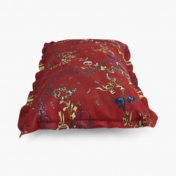 Edwardian Printed Cotton Pillow Covers- Set Of 2