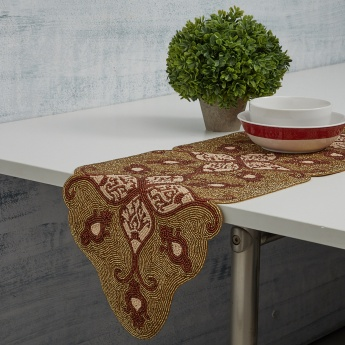 Cinder Treasures Embellished Table Runner