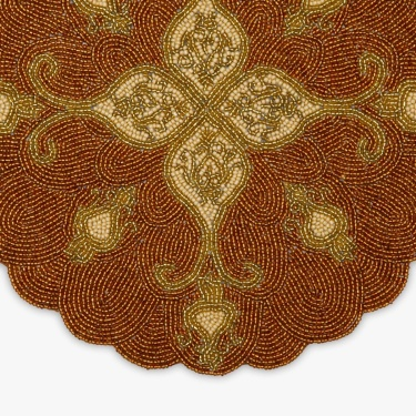 Cinder Beaded Round Placemat
