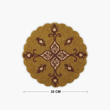 Cinder Beaded Round Placemat - 35 x 35 cm