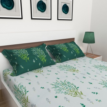 Carnival Printed Queen-Size Fitted Sheet Set- 3 Pcs.
