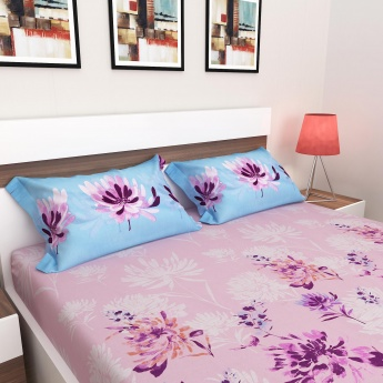 Harold Floral Double Bed Sheet-Set Of 3 Pcs.