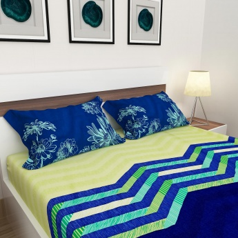Harold Printed Cotton Double Bedsheet Set