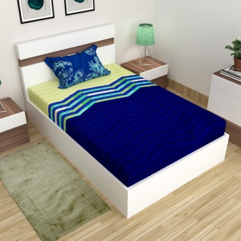 Harold Printed Single Bed Sheet-Set Of 2 Pcs.