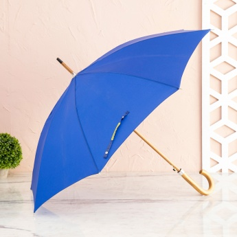 Canopy Solid Umbrella with Wooden Handle