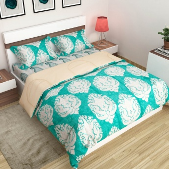 Scarlet Paisley Printed Bed In A Bag -Set Of 4 Pcs.