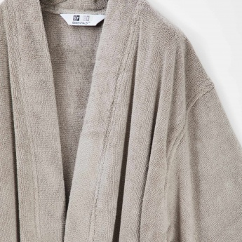 SPACES Solid Cotton Bathrobe