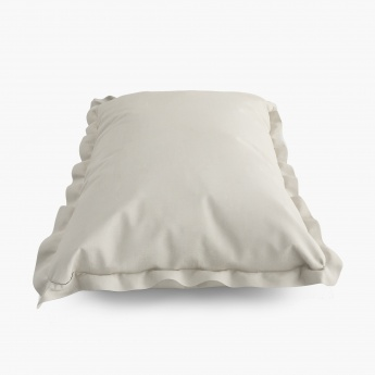 SPACES Solid Pillow Cover-Set Of 2 Pcs.