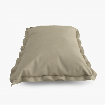 Solid Cotton Pillow Covers- Set Of 2